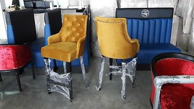Restaurant Home Vintage Classic Bar stool chesterfield style
