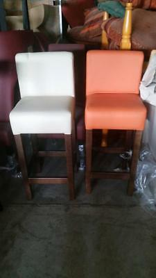 Faux leather bar stool dinning chairs home commercial restaurant pub bespoke