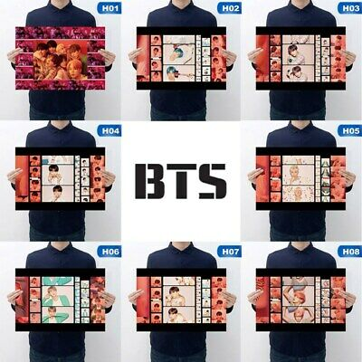 Kpop BTS Poster Hanging Painting All Members Wall Poster MAP_OF_THE_SOUL_PERSONA