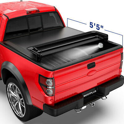 5.5FT 4-FOLD Truck Bed Tonneau Cover Soft Folding For 2015-2018 Ford F150