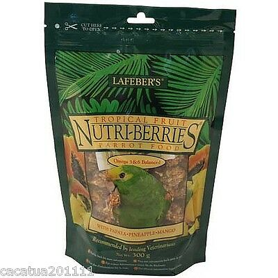 Lafeber Nutriberries Tropical Fruit 284G-Parrot Food / Ultimate Treat