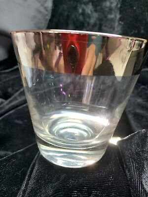 Vintage Mid Century Dorothy Thorpe Style Flared Old Fashion Low Ball Glass VG