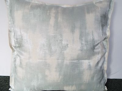 Pair Of 24 Inch Extra Large Giant Cushion  Soft Green And Cream
