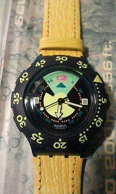 Raro OROLOGIO SWATCH SCUBA200 SCUBA DIVING 200m/656ft,vintage watch YELLOW
