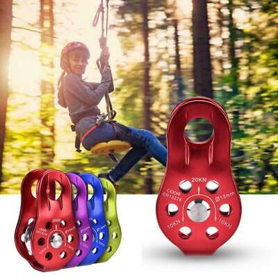 Lifting Swivel Rescue Pulley Climbing Fixing Rope Pulley Block Hanging Wire SD