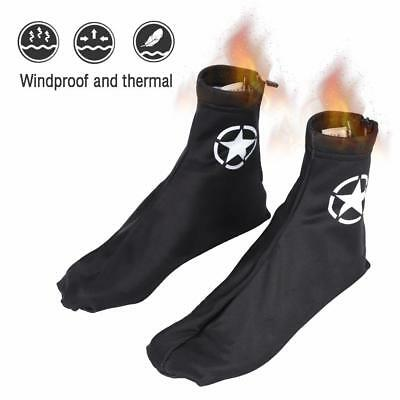 Windproof Cycling Fleece Sport Shoe Covers Winter Bicycle Bike Overshoes Thermal
