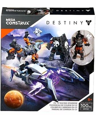 2016 Mega Construx Destiny EV-37 Racing Sparrow 100 Pieces New MISB