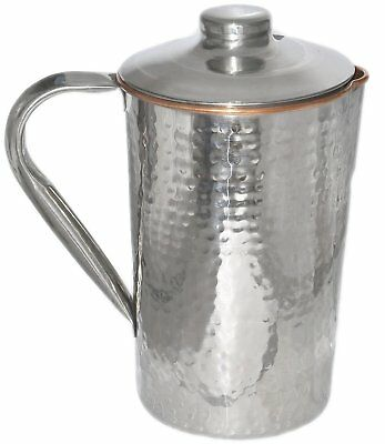 1 X Copper Jug Pitcher Drinkware Accessory for Ayurvedic Healing Outside Steel