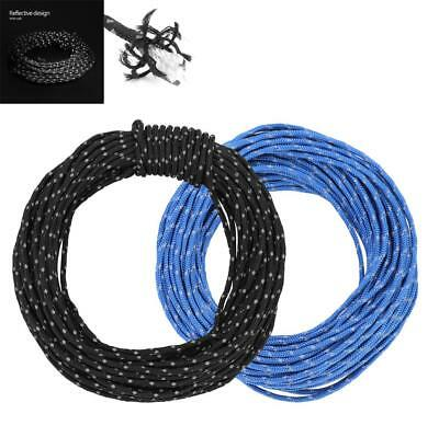 2.5MM 15M Reflective Guyline Camp Tarp Tent Rope Runners Guy Line Cord Paracord