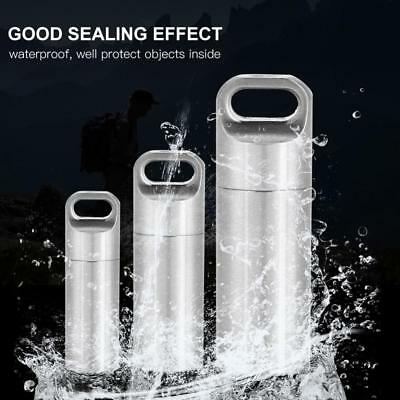 Stainless Steel Waterproof Pill Holder Match EDC Case Box Container Bottle SD