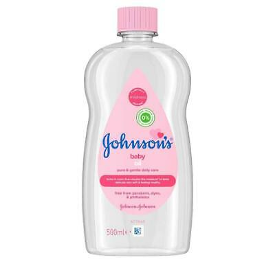Johnsons Baby Oil 500ml - Bath Moisture Johnson Fresh Clean Skin