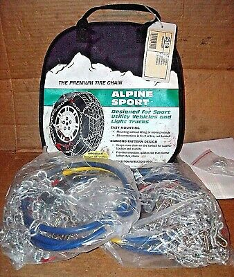 Alpine Sport Tire Snow Chains, stock #2319, Never Used