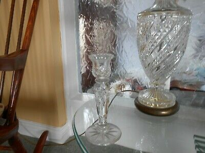 Glass candlestick holder 8 inches high