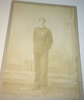 Rare Antique Victorian American Young Soldier, Medal & Uniform NY Cabinet Photo!