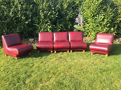 VINTAGE MODULAR SOFA 3 PIECE SUITE RETRO 80's 5 PIECE CHAIR