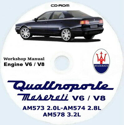 Workshop Manual,Maserati Quattroporte IV+EVO,manuale Officina motore AM573/574