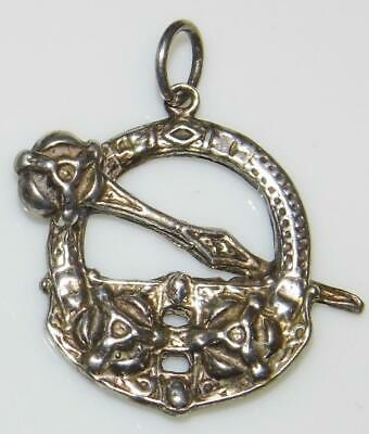 Antique Irish Sterling Silver Celtic Tara Brooch Pendant Hall Mark 1907 Maker SR