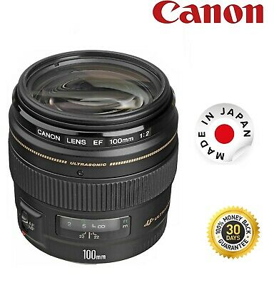 Canon EF 100mm F2.0 USM Lens 2518A003 2518A003 (UK Stock)