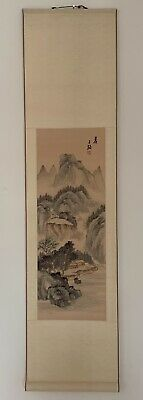 Chinese Hanging Scroll / Beautiful Landscape / Signed