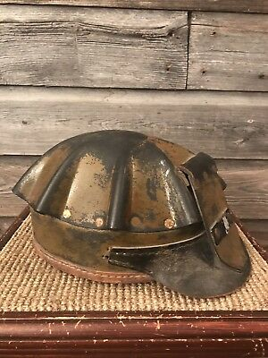 c0d9d38da97 Vintage Miners Hat Leather Helmet Coal Miner