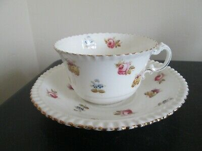 Antique Aynsley Porcelain Hand Painted Cup & Saucer c 1900