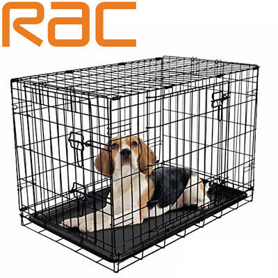 "Folding Training Crate Cage For Dog Puppy - Small Medium Large Rac 24"" 30"" 36"""