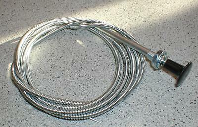 "Mr Gasket #2078 72/"" Inch 6 Foot Universal Choke Cable 3//8/"" Mounting Hole"