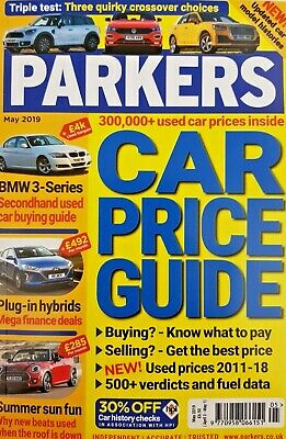 Parkers Car Price Guide Magazine May 2019 = Over 300 000 Used Car Prices