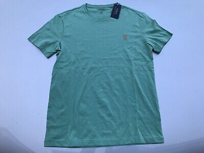 mens Ralph Lauren Polo Designer Short Sleeve T-shirt Green Small  New With Tags