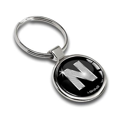 Keyring Letter A-Z Initials Alphabet Key Ring Accessories Men Women Key Chain N,