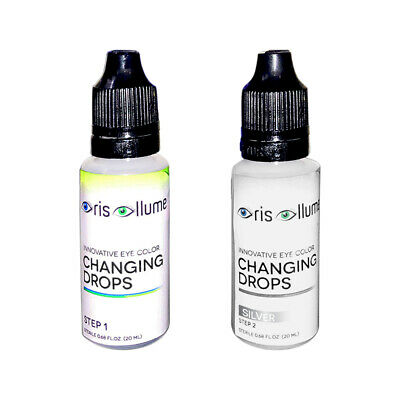 Iris Illume Innovative Eye Color Changing Drops in Silver:Now w/ Int'l Shpping