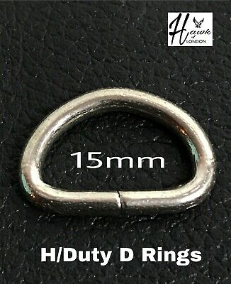 "5 TOP ALANSEW QUALITY ONE INCH 25MM /"" D /""  RINGS  SOLID D NOT WELDED"