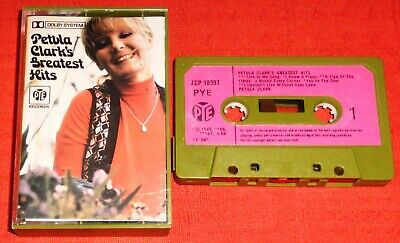 Petula Clark - Uk Cassette Tape - Greatest Hits (Best Of) - Pye - Paper Labels