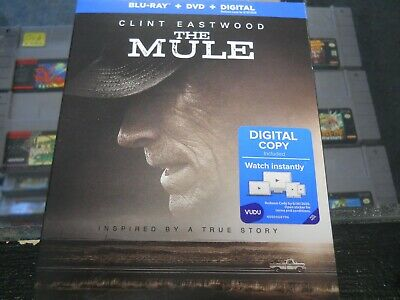 Brand New Sealed The Mule (DVD/Blu ray) with slipcover & Digital