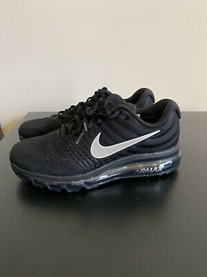 sale retailer 19b06 de3a0 Nike Air Max 2017 Black Anthracite Womens Size 8.5 Running Shoes 849560 001