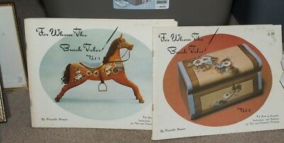 (2) PRISCILLA HAUSER FOLK ART TOLE PAINTING Books and Patterns Vol 1 and 2 -70's
