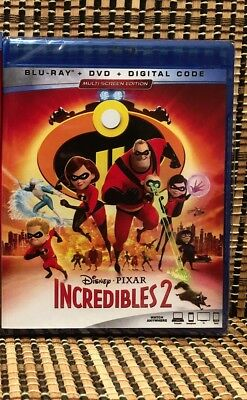 The Incredibles 2 (3-Disc Blu-ray/DVD, 2018)Disney/Pixar/Brad Bird