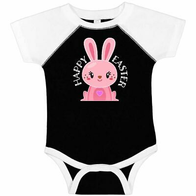 inktastic Happy Easter Cute Pink Bunny Face Long Sleeve Creeper