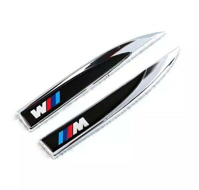 BMW M SPORT M Performance Badge Sticker Side Body 3d Logo Blade x2 aile avant