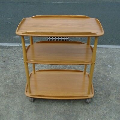 Ercol Light Elm 3 Tier Trolley      Delivery Available