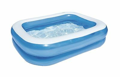 Bestway Large Deluxe Rectangular Inflatable Swimming Pool Family Paddling
