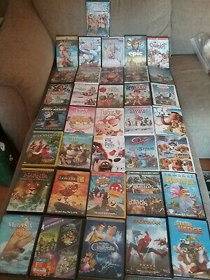 Lot of 36 Family Movies, Childrens DVDs, Dreamworks, Disney, and others Preowned