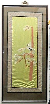 """53"""" x 25"""" Antique Framed Kesi Chinese Silk Embroidery Panel"""