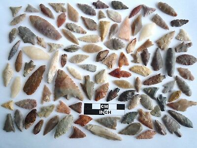 Neolithic Arrowheads x 100, Selection of Styles and Sizes - 4000BC - (1104)