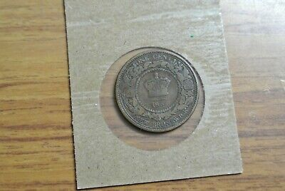 1864 New Brunswick Canada One Cent Foreign Coin