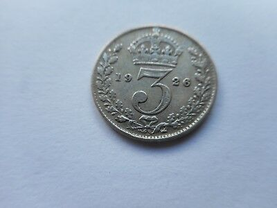 1926  George V Silver Threepence Coin