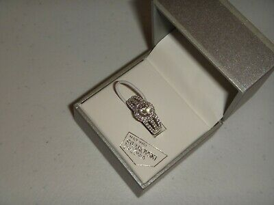 Kiera Couture Womens 925 Sterling Silver Ring Swarovski Zirconia Crystals Size 9