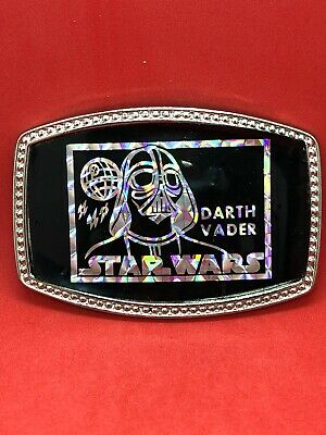Vintage Unbranded Prism Hologram Sticker Belt Buckle STAR WARS Black Darth Vader