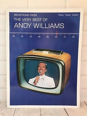 Selections From The Very Best Of Andy Williams Piano Vocal Guitar Music Book