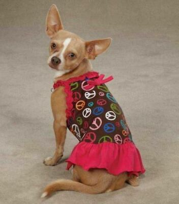 5ca512414f2 PEACE OUT DOG Dress East Side Collection pet blue dresses peace sign ...